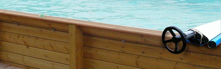 Couverture barres cover wood pour piscine hors sol bois for Fabriquer son enrouleur bache piscine