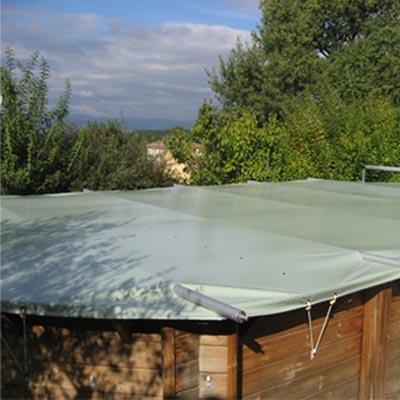 Couverture de s curit barres pour piscine hors sol t et hiver - Securite pour piscine hors sol ...