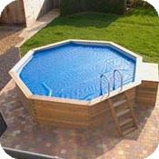 Piscines bois gardipool octogonale avec ou sans margelles en pin - Couverture piscine bois limoges ...