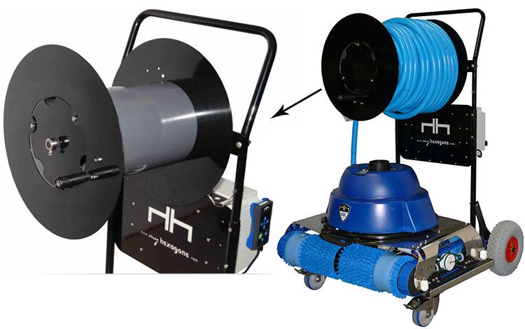 Robot pour piscine publique hexagone murena 73 m for Robot piscine sans fil