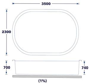 Mini piscine formentera coque polyester for Piscine coque polyester petite dimension