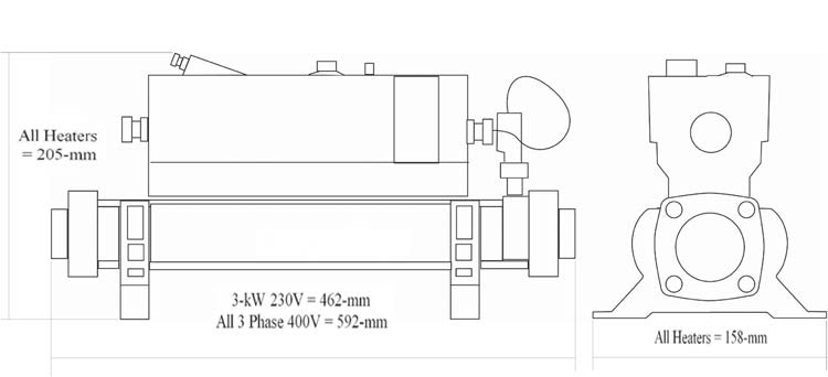 R chauffeur piscine elecro vulcan 3kw plug and play for Chauffage piscine 17m3