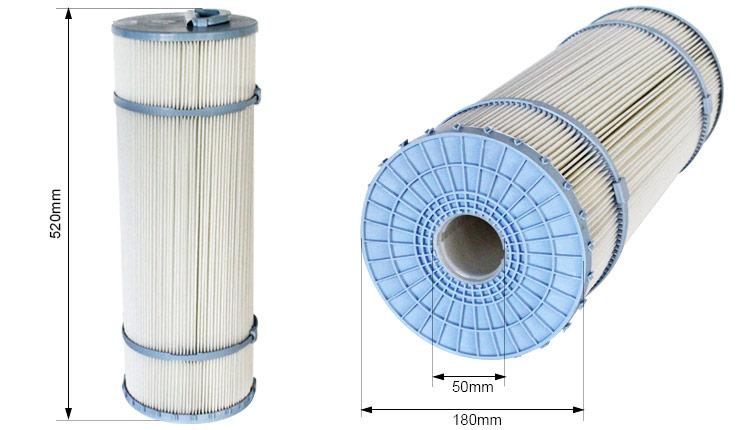 Cartouche de remplacement filtrante weltico pour filtre for Cartouche filtrante piscine