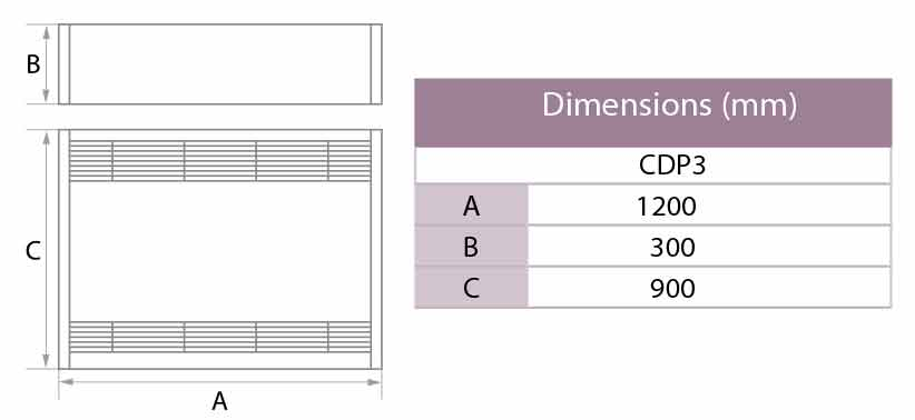 Dimensions déshumidificateur CDP 3 astralpool