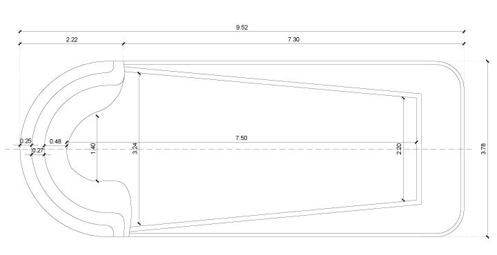 Piscine dokos coque polyester for Dimension piscine