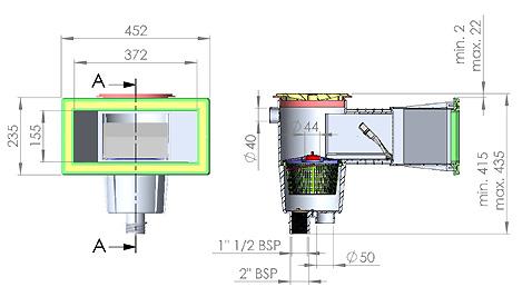 skimmer astral grande meurtri re 15 litres pour les. Black Bedroom Furniture Sets. Home Design Ideas