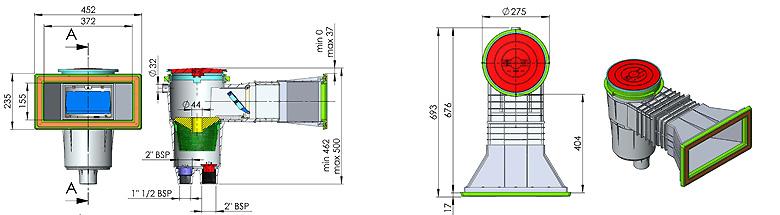 Skimmer astral prestige grande meutri re 17 5 litres for Piscine coque grande dimension