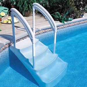Escaliers amovibles quatre marches pour piscines hors sol enterr es - Escalier bois pour piscine hors sol ...