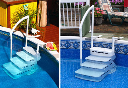 Escalier amovible aquarius 4 marches for Escalier piscine amovible