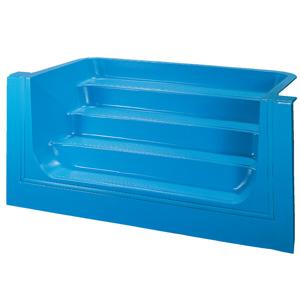 Escaliers acryliques dom composit pour piscine enterr es for Piscine coque polyester ou acrylique