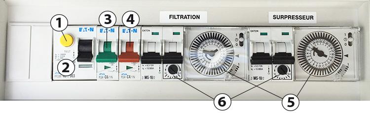 Coffret lectrique pour piscine facilelec d 39 astral for Alimentation electrique local technique piscine