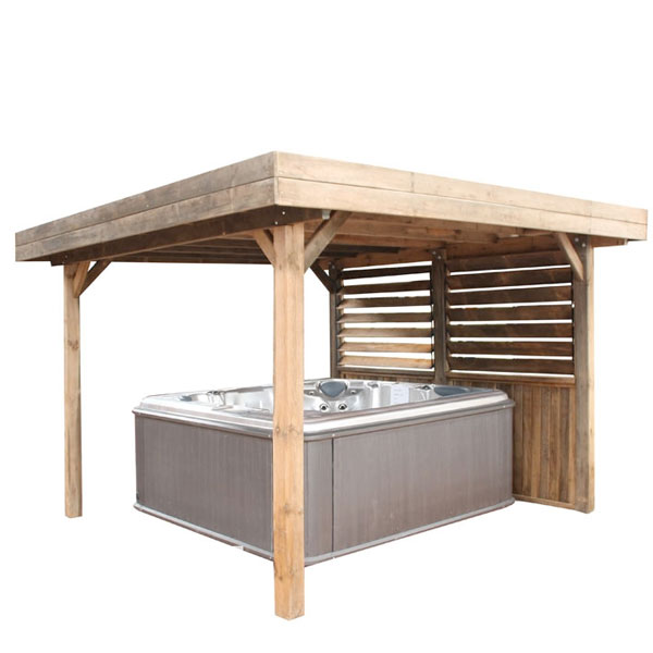 Gazebo En Bois Pour Spa : Flat Roof Gazebo Plans