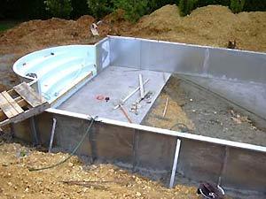 B ton et chape de fond vous guider pas pas dans cette for Construction piscine hiver