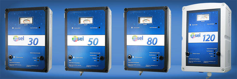 Electrolyseur i sel 30 50 80 et 120 for Sel pour piscine
