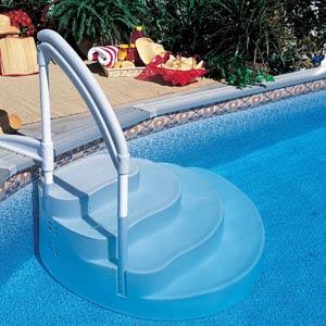 Escaliers pour piscines enterr es et hors sol amovibles for Escalier piscine amovible