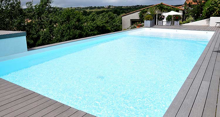 Liner pool 75 sur mesure pour piscines enterr es for Piscine bois 9x4