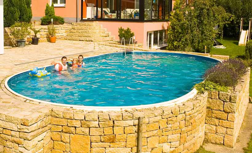 Liner pour piscine hors sol ovale
