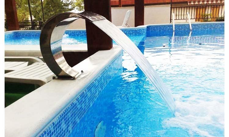 Cascade d 39 eau mini bali pour piscine - Piscine inox tarif ...