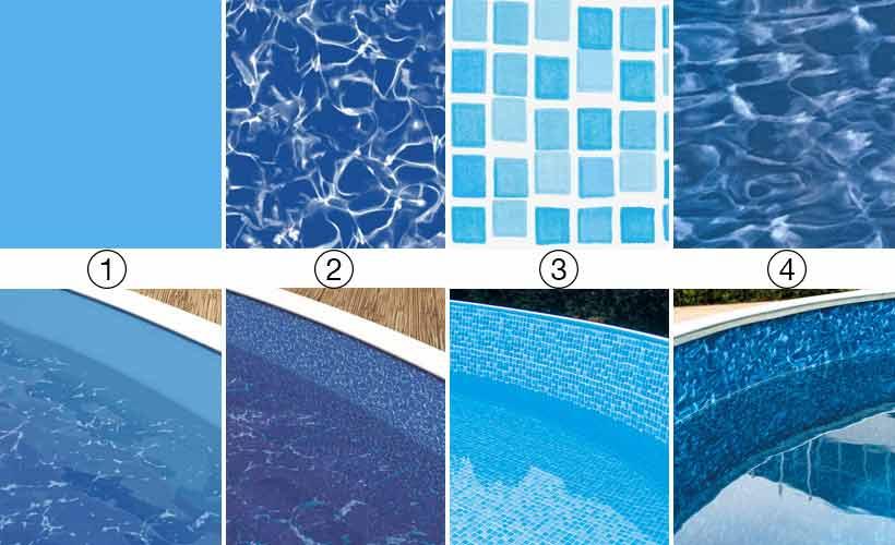 Liner pour piscine hors sol ronde ovale et octogonale pas cher for Epaisseur liner piscine