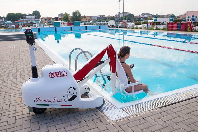 Si ge l vateur mobile pandapool acc s piscine aux handicap s - Piscine pour personne handicapee ...