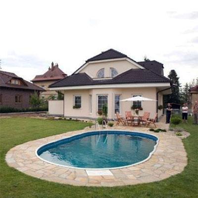 Piscine Hors Sol Ovale Azuro Luxe 5 5x4m 7x4m 9x4 5m