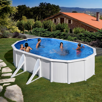 Piscines hors sol parois acier for Piscine jilong ovale