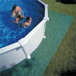 Piscine hors sol acier gre atlantis ronde - Tapis de sol pour piscine ronde ...