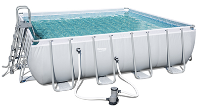 Piscine Bestway Power Steel forme Carrée