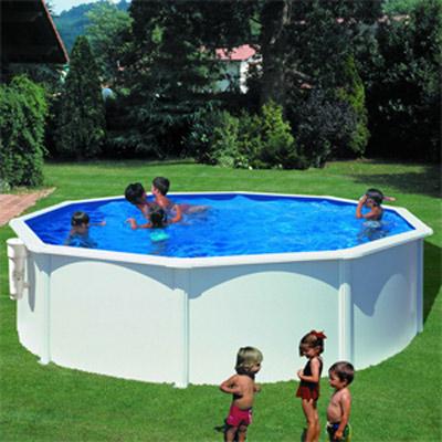 Piscines hors sol parois acier for Prix piscine acier