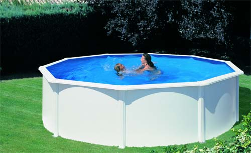 photo piscine ronde acier