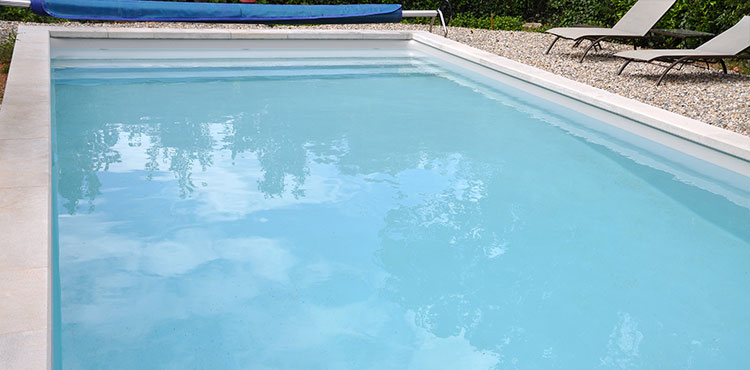 Liner haute temp rature resist 75 sur mesure pour piscines for Liner blanc piscine