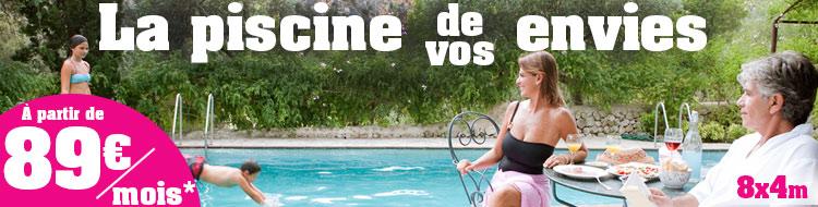 Piscines en kit prix discount for Piscine coque 8x4m