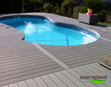 Plage piscine en bois composite wood premium for Bois composite terrasse piscine