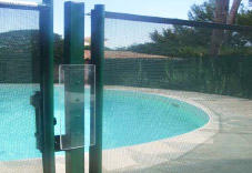 Barri re piscine beethoven souple d montable vite les for Barriere piscine plexiglass