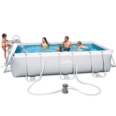 Piscine hors sol rectangulaire POWER STEEL Bestway filtration à cartouche