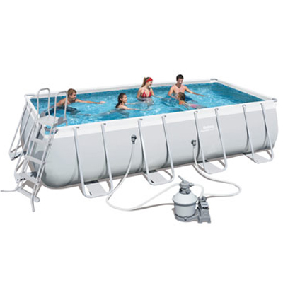 Piscine hors sol rectangulaire POWER STEEL Bestway filtration à sable