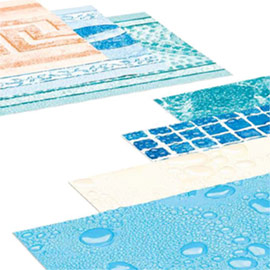 grand choix de liners sur mesure pour votre piscine enterr e. Black Bedroom Furniture Sets. Home Design Ideas