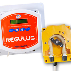 Régulation automatique pH Régulus par pompe doseuse