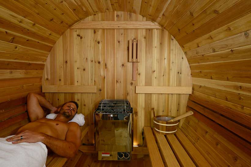 Relaxation sauna Barrel