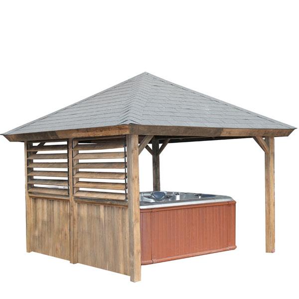 Gazebos pour d corer autour de votre piscine et pour abriter les spas for Comabris pour spa exterieur