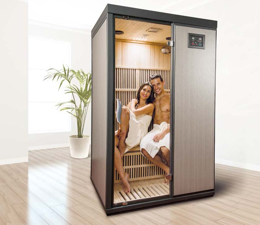 sauna infrarouge 2 places idaho. Black Bedroom Furniture Sets. Home Design Ideas