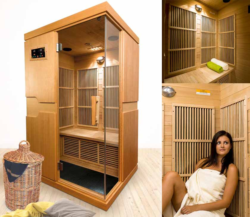 sauna infrarouge 2 places indiana. Black Bedroom Furniture Sets. Home Design Ideas