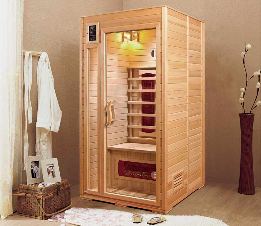 sauna infrarouge 1 place nevada. Black Bedroom Furniture Sets. Home Design Ideas