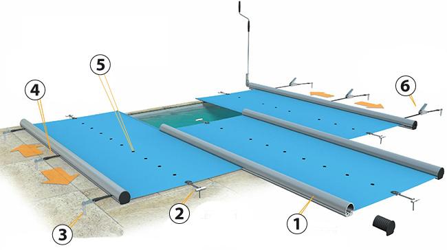 couverture barres walu pool evolution. Black Bedroom Furniture Sets. Home Design Ideas
