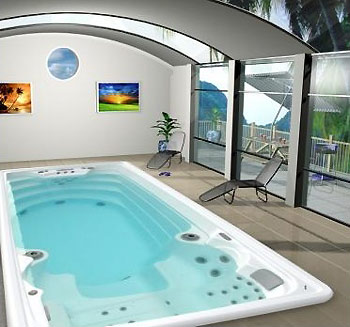 Spa de nage amazon luxe for Piscine hors sol nage contre courant