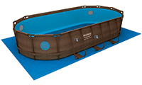 Tapis de sol pour piscine hors sol bestway Power Steel Vista