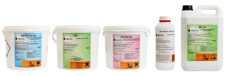 Kit produit abatik traitement complet pour l 39 eau de votre for Consommation chlore liquide piscine
