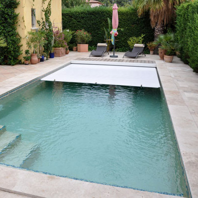 Volets piscine immerg s automatiques hors sol manuels for Piscine coque volet integre