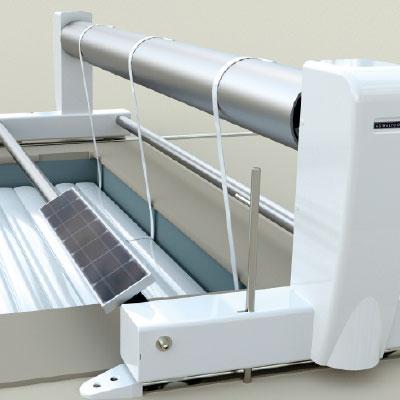Volets hors sol automatiques pour piscine for Volet roulant piscine sur rail