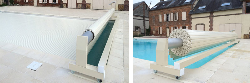 Volet piscine automatique solaire mobile MOUV AND ROLL SOLAR